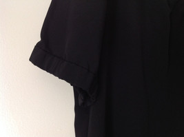 Simply Vera Plain Black Short Sleeve Top 100 Percent Polyester Size Large image 5
