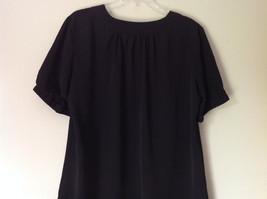 Simply Vera Plain Black Short Sleeve Top 100 Percent Polyester Size Large image 6