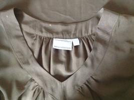 Simply Vera Plain Black Short Sleeve Top 100 Percent Polyester Size Large image 7