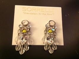 Vintage Inspired Lemon Crystal Drop Post Sorrelli Earrings