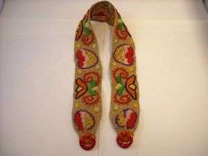 Vintage Hand embroidered Belt Strap from Hungary