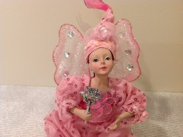 Sitting Pink Fairy Ceramic Face Body Hat Wand Long Hair image 6