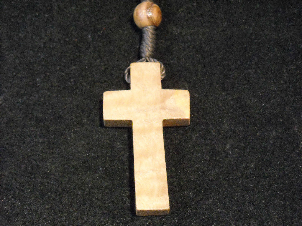Vintage Light stained wood rosary