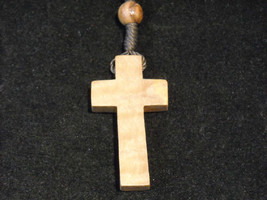 Vintage Light stained wood rosary image 1