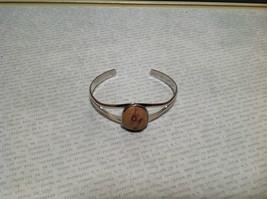 Silver Tone Geo Jewelry Bracelet  with Dark Spots picture jasper image 2