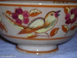 Vintage Moriyama Japanese porcelain bowl yellow orange