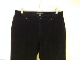 Banana Republic Black Velvet Stretch Pants with Pockets, Size 6 image 3