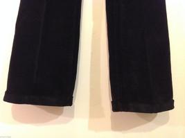 Banana Republic Black Velvet Stretch Pants with Pockets, Size 6 image 4
