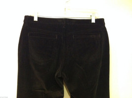 Banana Republic Black Velvet Stretch Pants with Pockets, Size 6 image 5