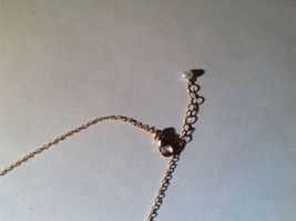 Silver with Gold Chain Flat Heart and Gem Necklace London Blue Topaz December image 6