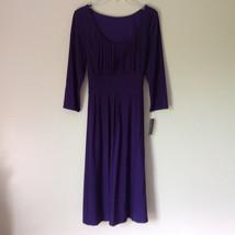 Simple Yet Elegant Three Quarter Length Purple Dress NEW with Tag Size 12 image 2