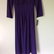 Simple Yet Elegant Three Quarter Length Purple Dress NEW with Tag Size 12 image 4