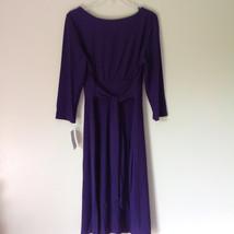 Simple Yet Elegant Three Quarter Length Purple Dress NEW with Tag Size 12 image 7