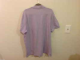 Banana Republic Mens Lavender Stretchable Cotton Polo Shirt with elephant Size L image 5