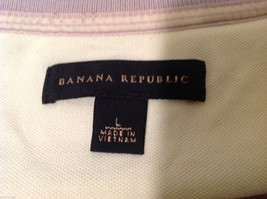 Banana Republic Mens Lavender Stretchable Cotton Polo Shirt with elephant Size L image 7