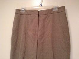 Size 12 Talbots Petite Stretch Tan Light Brown Lined Dress Pants Wool Blend image 2