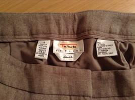 Size 12 Talbots Petite Stretch Tan Light Brown Lined Dress Pants Wool Blend image 5