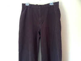 Size 14 Dark Brown Pants by J Crew Slightly Stretchy Button and Zipper Closure image 2