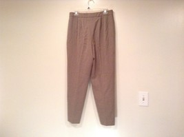 Size 12 Talbots Petite Stretch Tan Light Brown Lined Dress Pants Wool Blend image 4