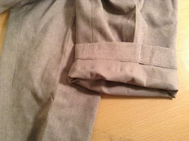 Size 12 Talbots Petite Stretch Tan Light Brown Lined Dress Pants Wool Blend image 6