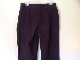 Size 14 Dark Brown Pants by J Crew Slightly Stretchy Button and Zipper Closure image 4
