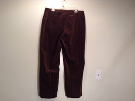 Size 16 Northern Isles Brown Casual Pants 98 Percent Cotton 2 Percent Spandex image 4