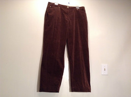 Size 16 Northern Isles Brown Casual Pants 98 Percent Cotton 2 Percent Spandex image 2