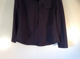 Size Large New York and Company Long Sleeve Button Up Charcoal Black Blouse image 3