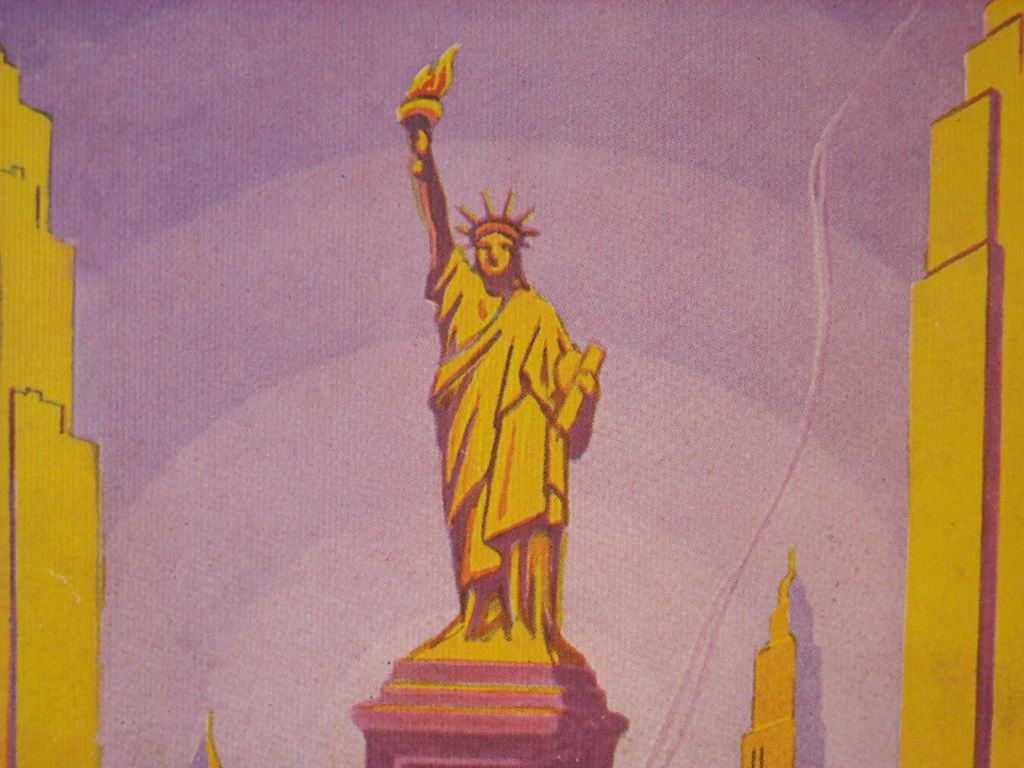 Vintage Reprint Color New York City Souvenir Album of Statute of Liberty Poster
