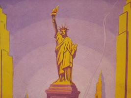 Vintage Reprint Color New York City Souvenir Album of Statute of Liberty Poster