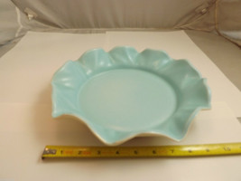 Vintage Poppy Trail Light Blue Serving Dish Ruffled Edge