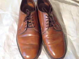 Size 9 Brown Leather Tied Formal Shoes Old Style One Inch Heel image 2