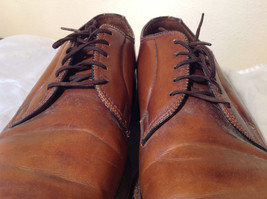 Size 9 Brown Leather Tied Formal Shoes Old Style One Inch Heel image 4