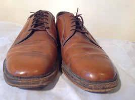 Size 9 Brown Leather Tied Formal Shoes Old Style One Inch Heel image 3