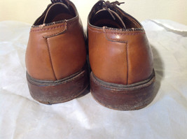 Size 9 Brown Leather Tied Formal Shoes Old Style One Inch Heel image 6