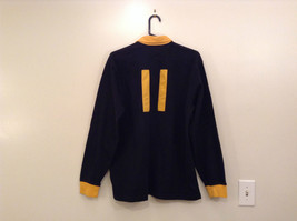 Size L Ralph Lauren Cotton Long Sleeve Black with Yellow Collar and Cuffs image 2