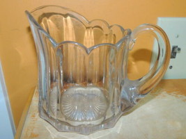 """Antique 5"""" Pitcher Heisey Colonial Pattern Peerless Crystal Glass medium marked - $44.99"""