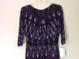 Size 8 NEW with Tag Purple Light Purple and Black Design Dress Zipper image 2