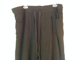 Size 18W Daisy Fuentes Black Pants Tied Waist Light Material 100 Percent Rayon image 2