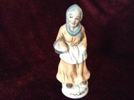 Vintage Porcelain Painted Old Woman Figurine