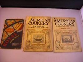 Vintage Royal Cookbook 1929 American Cookery 1934 1933