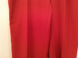 Size 22W Alfred Dunner Orange Red Unlined Dress Pants Side Pockets Elastic Waist image 4