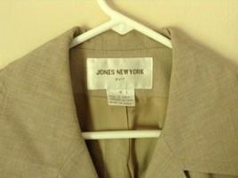 Size 4 Suit Jacket Blazer Jones New York Fancy Buttons Shoulder Pads Long Sleeve image 2
