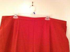 Size 22W Alfred Dunner Orange Red Unlined Dress Pants Side Pockets Elastic Waist image 2