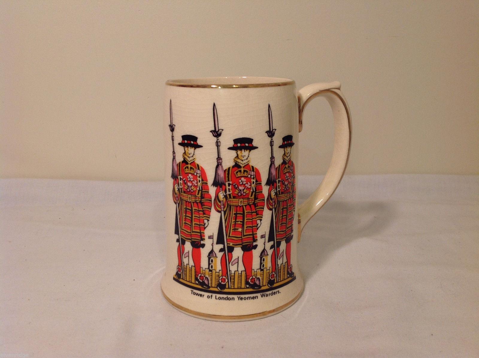 Vintage Sadler Tower of London Yeomen Warders Beer Mug Staffordshire England
