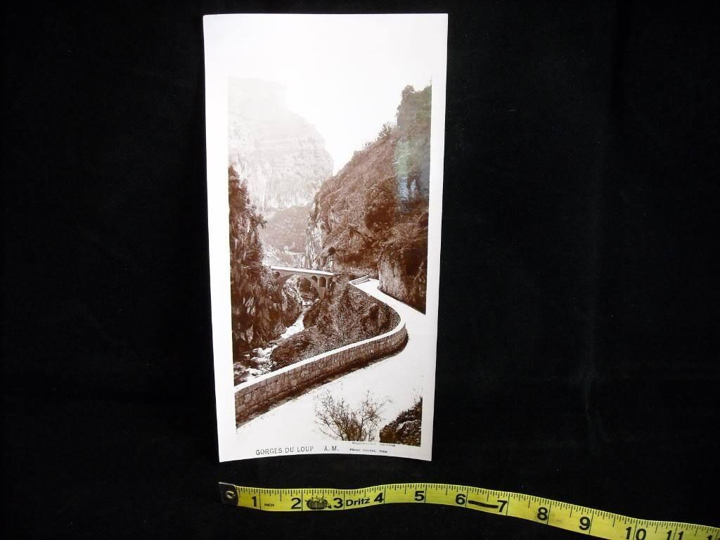 Vintage Sepia Photo of Gorges du Loup road Nice France