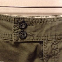 Banana Republic Womans, Olive Green Shorts, Size 8 image 4