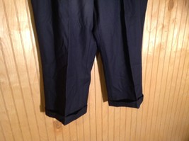 Size 40 Black Pleated Dress Pants Tags Removed Measurements Below image 3
