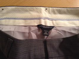 Banana Republic Size 4 Fully Lined Gray Dress Pants Very Nice Pleated Front image 5