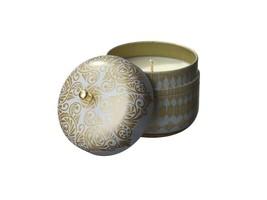 Vintage Tin Travel Candle Diamond Citrus Bergamot Veda Bliss Tranquility